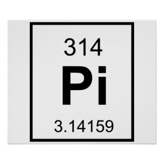 The Element of Pi Posters