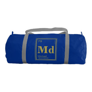 The Element of You! Custom Name Gold Periodic Gym Duffel Bag