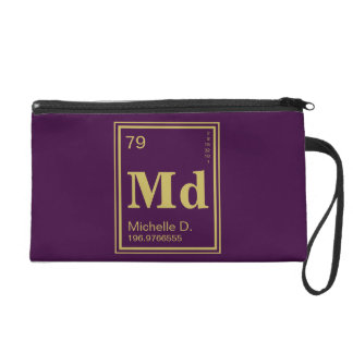 The Element of You! Custom Name Gold Periodic Wristlet