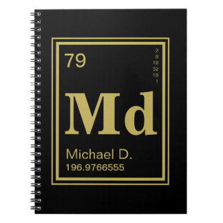 The Element of You! Custom Name Periodic Table Note Book