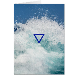 The Element Water Symbol Greeting Card