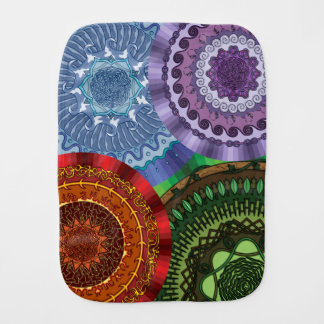 The Elements Mandalas Burp Cloth