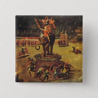 The Elephant Carousel 15 Cm Square Badge