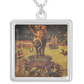 The Elephant Carousel Silver Plated Necklace