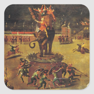 The Elephant Carousel Square Sticker