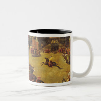 The Elephant Carousel Two-Tone Coffee Mug