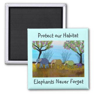 The Elephant Habitat Magnet
