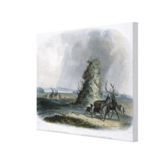The Elkhorn Pyramid on the Upper Missouri, plate 2 Canvas Prints