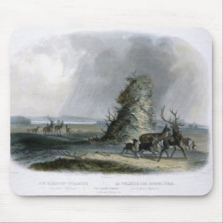 The Elkhorn Pyramid on the Upper Missouri, plate 2 Mouse Mat
