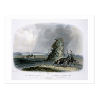 The Elkhorn Pyramid on the Upper Missouri, plate 2 Postcard