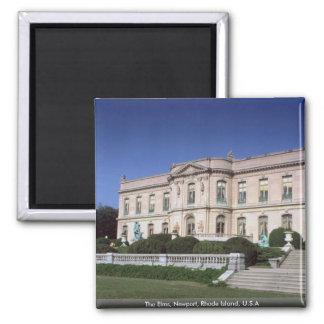 The Elms, Newport, Rhode Island, U.S.A Square Magnet