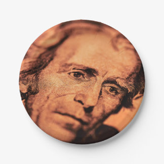 The Elusive President Jackson 7 Inch Paper Plate