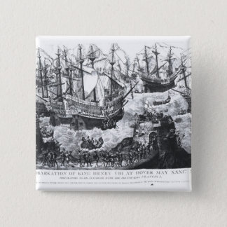 The Embarkation of Henry VIII  at Dover 15 Cm Square Badge