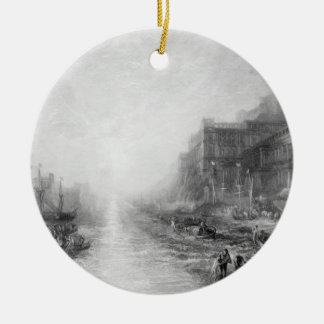 The Embarkation of Regulus, Ancient Carthage, engr Christmas Ornament