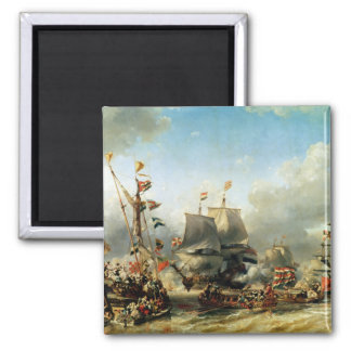 The Embarkation of Ruyter and William de Witt Refrigerator Magnet