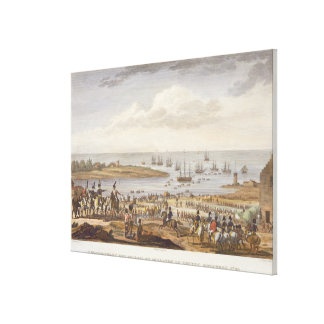 The Embarkation of the English in Holland, 30 Nove Canvas Print
