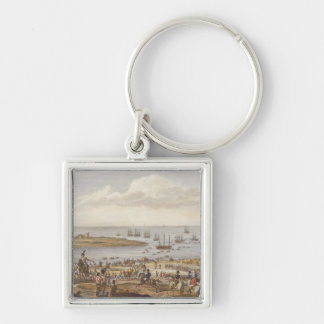 The Embarkation of the English in Holland, 30 Nove Silver-Colored Square Key Ring