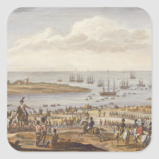 The Embarkation of the English in Holland, 30 Nove Square Sticker