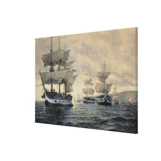 The Embarkation of the Liberating Expedition of Pe Canvas Print