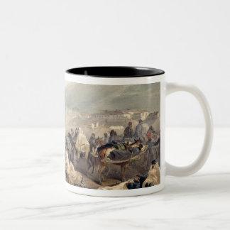 The Embarkation of the Sick at Balaklava Two-Tone Coffee Mug