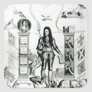 The Emblem of England, October 1690 Square Sticker