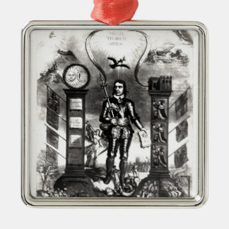 The Emblem of England's Distractions, 1658 Christmas Ornament