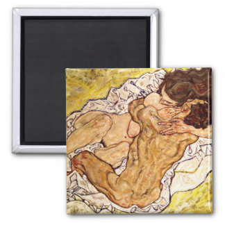 The Embrace, 1917 Square Magnet