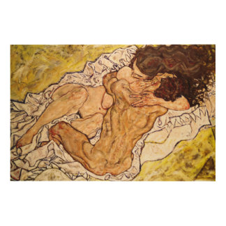 The Embrace, 1917 Wood Canvas