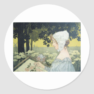 THE EMBROIDERER  LA BRODEUSE STICKER