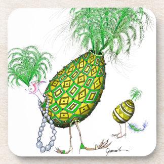 The Emerald Diamond Fab Egg, tony fernandes Beverage Coaster