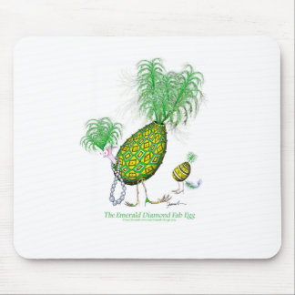 The Emerald Diamond Fab Egg, tony fernandes Mouse Pad