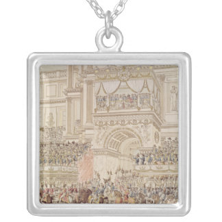 The Emperor and the Empress Receiving the Homage Silver Plated Necklace