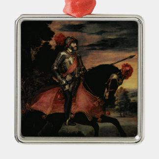 The Emperor Charles V  on Horseback Christmas Ornament