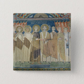 The Emperor Constantine IV grants tax immunity 15 Cm Square Badge
