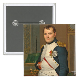 The Emperor Napoleon in His Study at the Tuileries 15 Cm Square Badge
