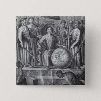 The Emperor of China, frontispiece to an account o 15 Cm Square Badge