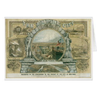 The Empire City, New York Card