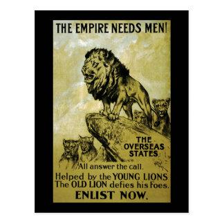 The Empire Needs Men Postcard