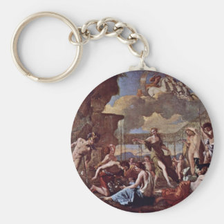 The Empire Of Flora By Poussin Nicolas Key Chain