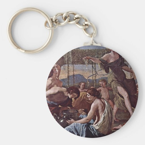 The Empire Of Flora Detail By Poussin Nicolas Key Chains