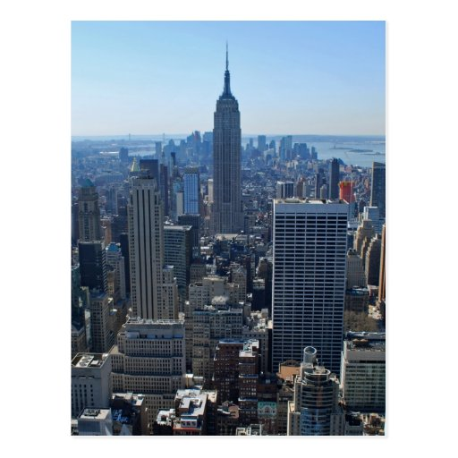 The Empire State Building and New York Skyline Postcard