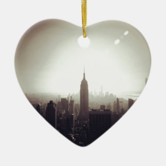The Empire State Building, NYC Ceramic Heart Decoration