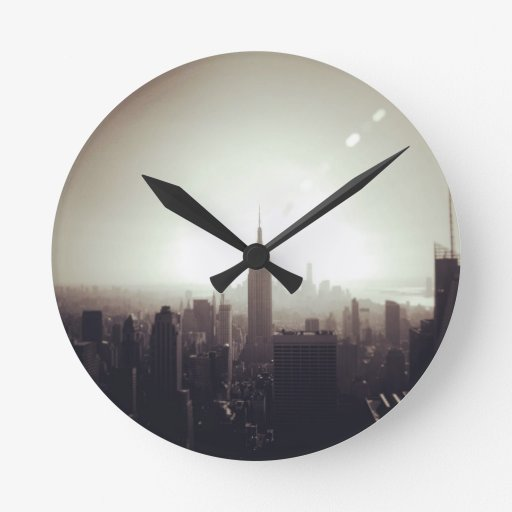 The Empire State Building, NYC Round Clocks