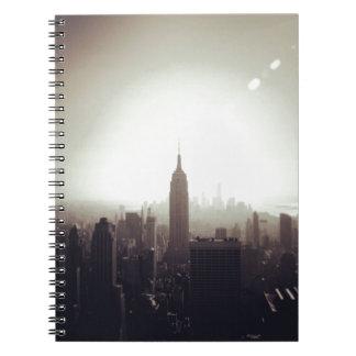 The Empire State Building NYC Libro De Apuntes Con Espiral