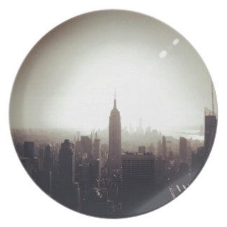 The Empire State Building NYC Plato De Cena