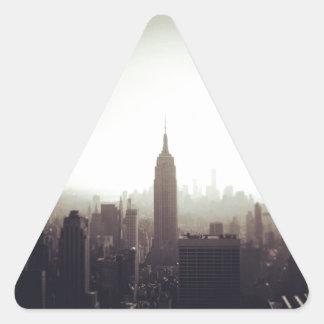 The Empire State Building NYC Calcomanías Triangulos Personalizadas