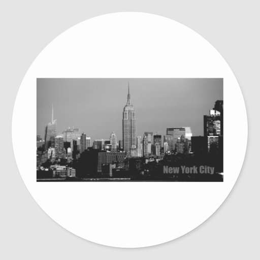 The Empire State Building Round Sticker