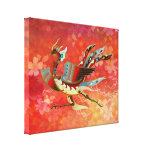 The Empress - Flight Of Phoenix - (Red Version) Gallery Wrapped Canvas