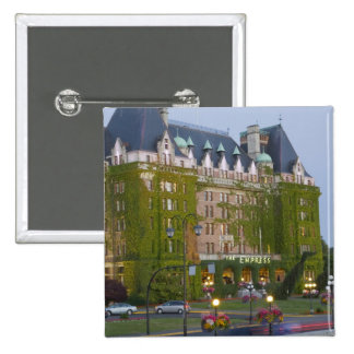 The Empress Hotel at the inner harbour in 15 Cm Square Badge