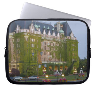 The Empress Hotel at the inner harbour in Laptop Sleeve